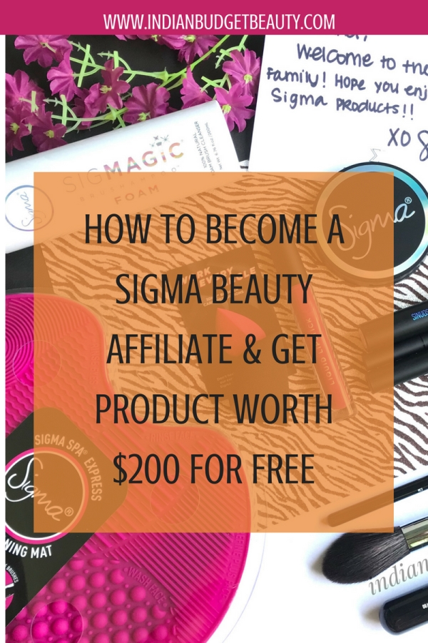 how to become a sigma beauty affiliate