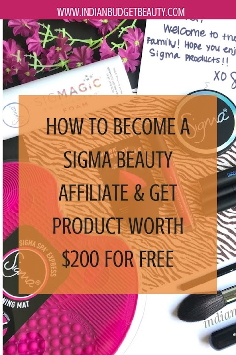 How to become a Sigma Beauty Affiliate ? | Get product worth $200 free