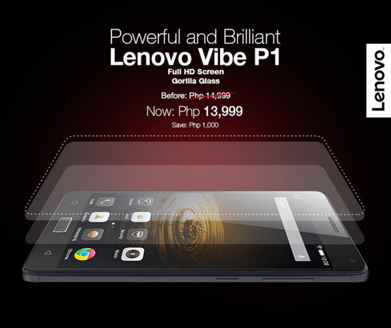 Lenovo Vibe P1 now at just 13,999 Pesos