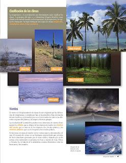Apoyo Primaria Atlas de Geografía del Mundo 5to. Grado Capítulo 2 Lección 3 Clasificación de los Climas, Vientos