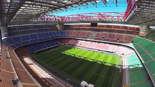Estádio do time de futebol Milan