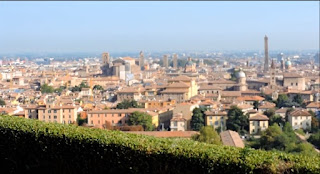 The church of San Michele in Bosco offers panoramic views over the city of Bologna