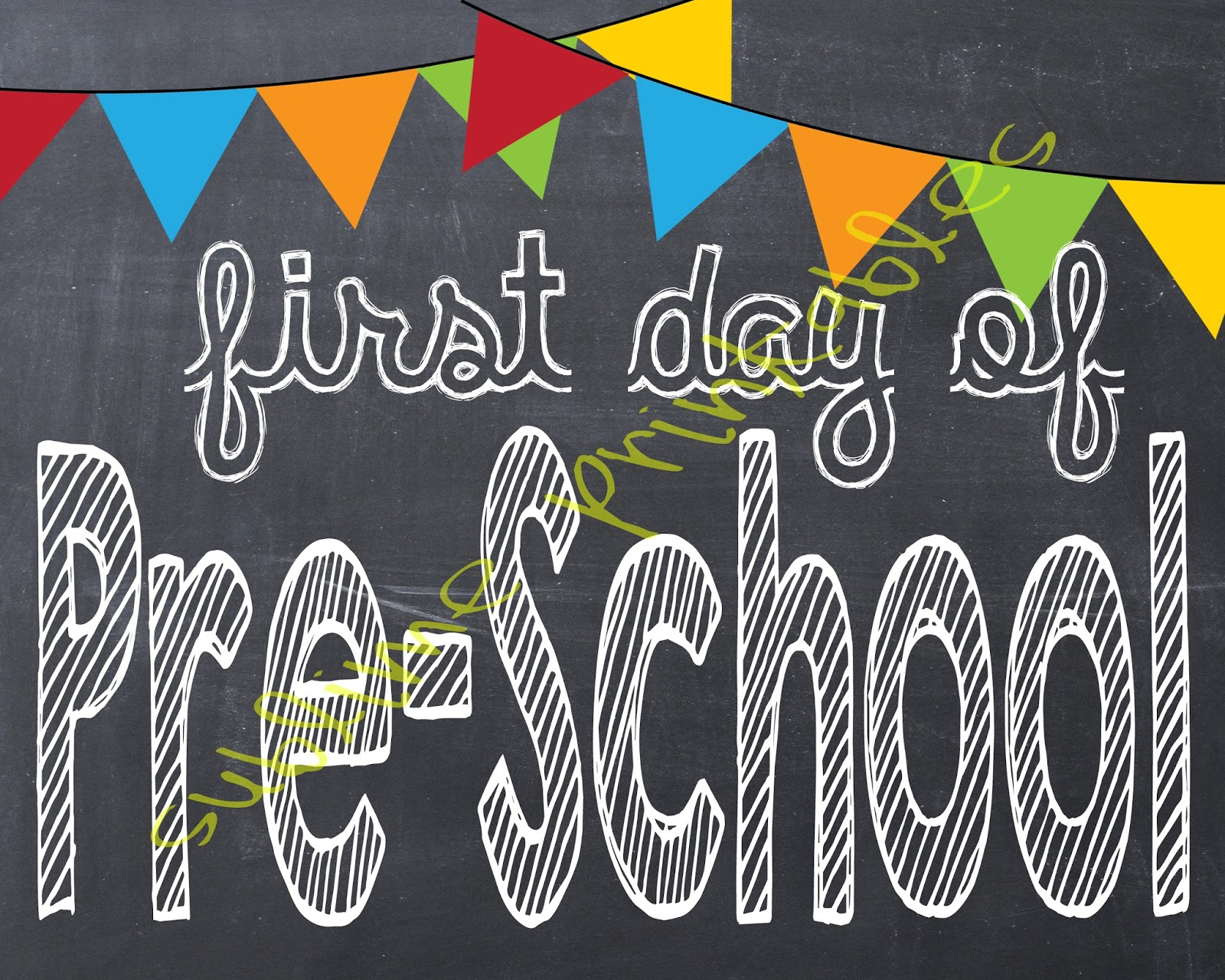 Sublime Printables First Day Of School Printable