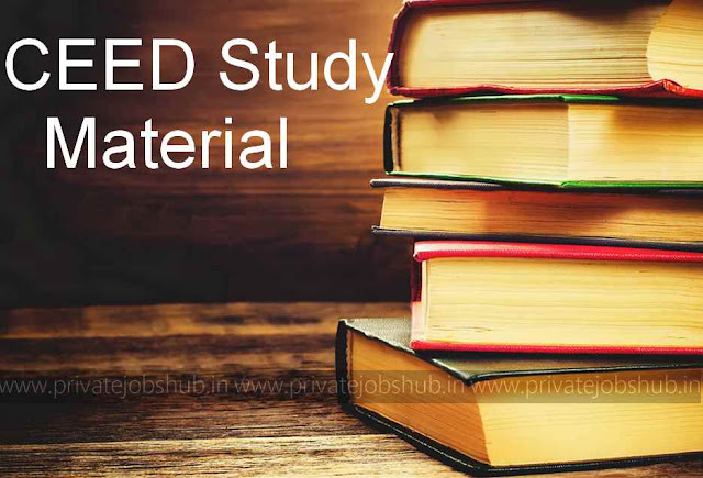 CEED Study Material | Notes for CEED Exam Preparation – Privatejobshub.in