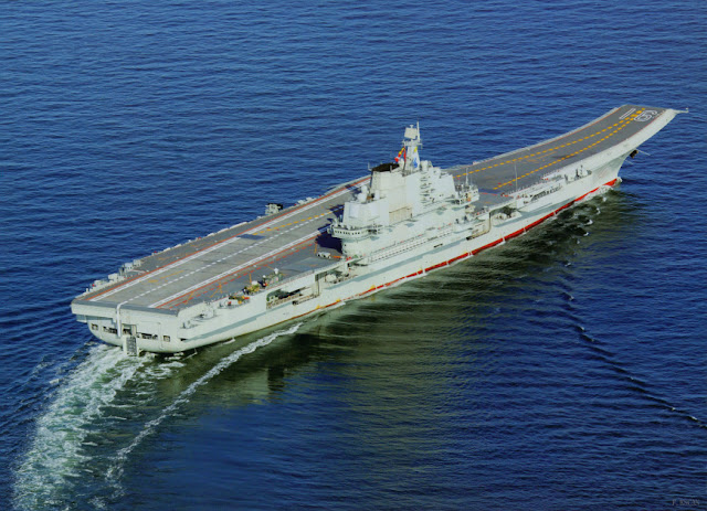 The Liaoning in sea trial