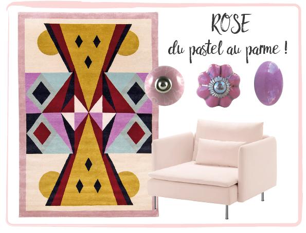 bouton de meuble rose pour relooker ses meubles