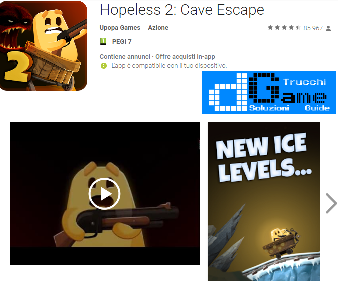 Soluzioni Hopeless 2: Cave Escape livello 21-22-23-24-25-26-27-28-29-30 | Trucchi e Walkthrough level