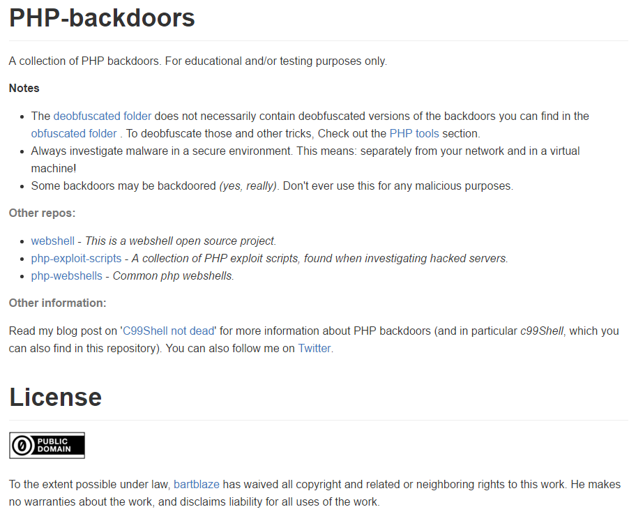 Blaze's Security Blog: A collection of PHP backdoors