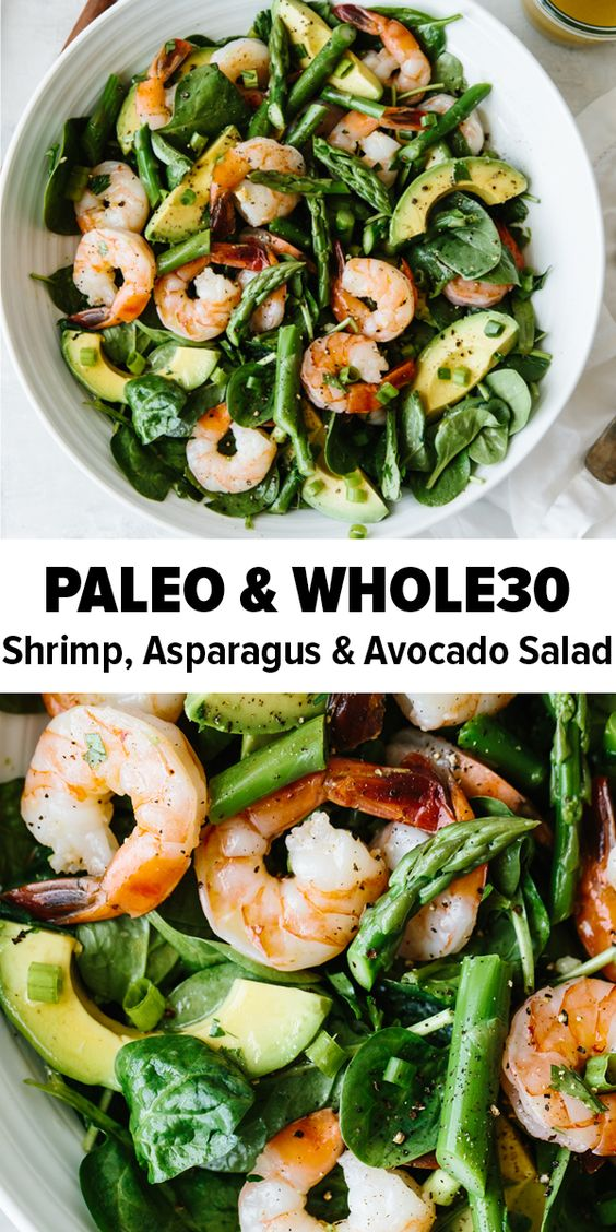 SHRIMP, ASPARAGUS AND AVOCADO SALAD