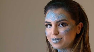 Mônica Fonseca com a maquiagem artística - Divulgação