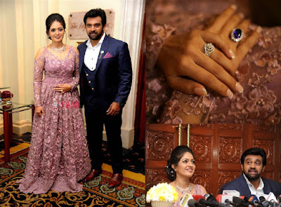 Meghana-Raj--Chiranjeevi-Sarja-Engagement-Reception-at-Leela