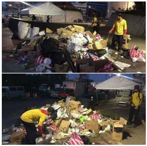 Here's What The Protesters Left After The Rally At The EDSA People Power Monument