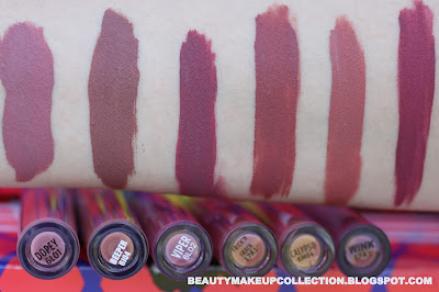 colourpop cosmetics swatch haul liquid lipsticks
