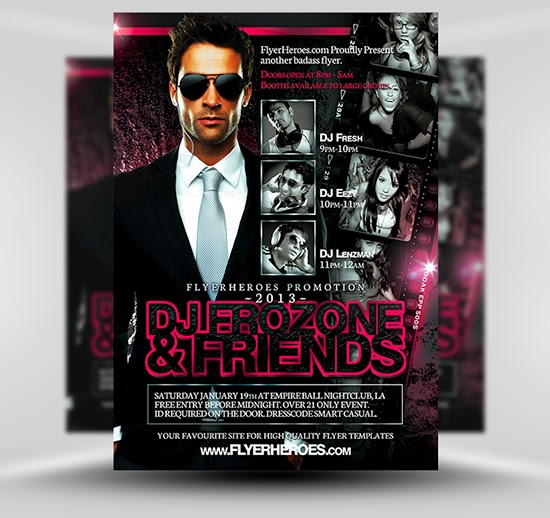 Free Flyer Frozone Template PSD