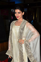 Samantha Ruth Prabhu cute in Lace Border Anarkali Dress with Koti at 64th Jio Filmfare Awards South ~  Exclusive 004.JPG