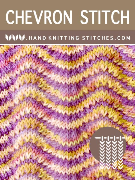 Hand Knitting Stitches - Stockinette Chevron Lace Knitting #knitlace #laceknitting