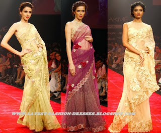FASHION SHOW WEEK  NEW FRILLED YELLOW COLOUR SAREE
