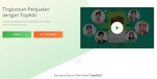Top Ads Tokopedia