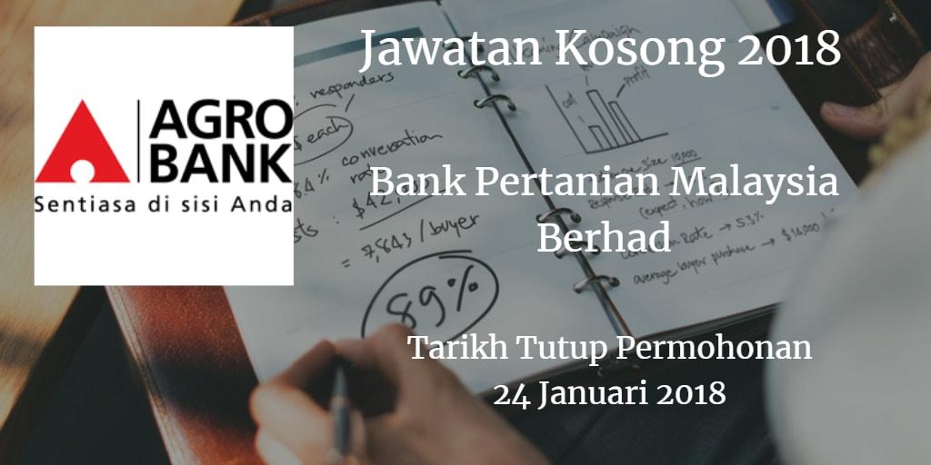 Jawatan Kosong Agrobank 24 Januari 2018
