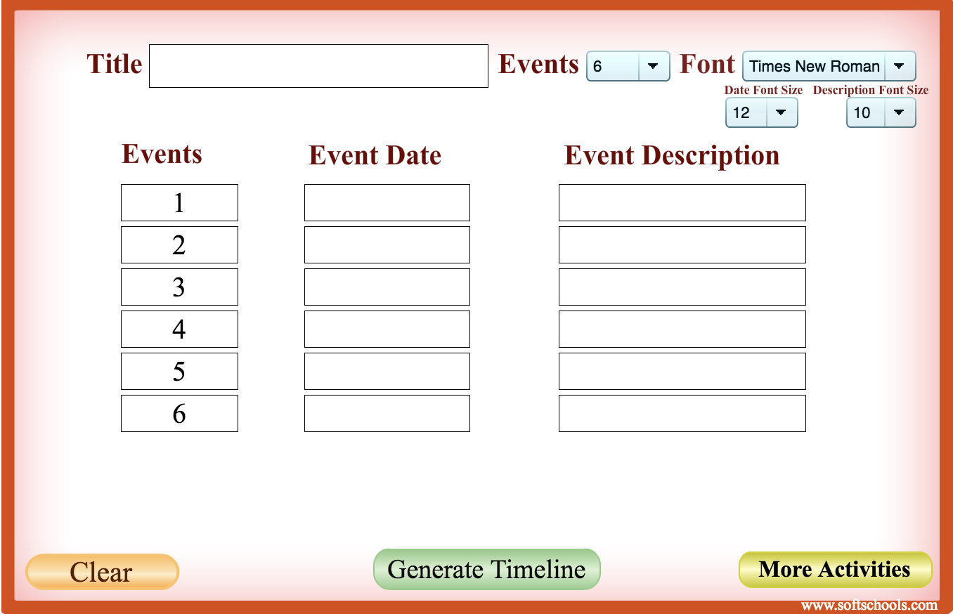 tools for creating timelines in the elementary classroom the