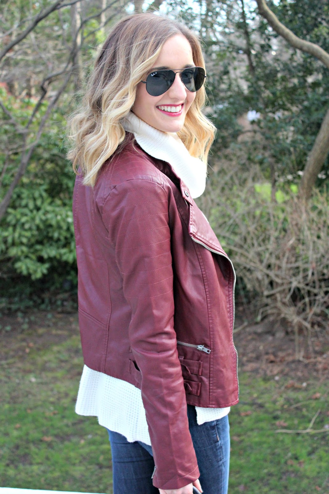 burgundy harmony & havoc jacket