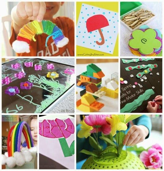 spring preschool activities that improve fine motor skills