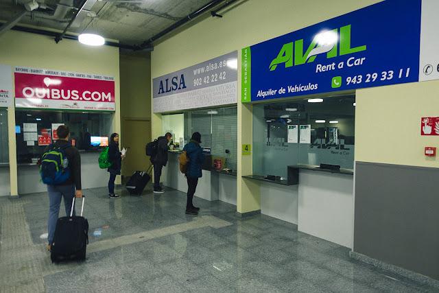 バス・ターミナル(Estacion de autbuses de San Sebastian)