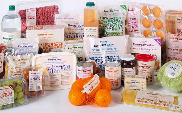 Tesco private label - Everyday Value