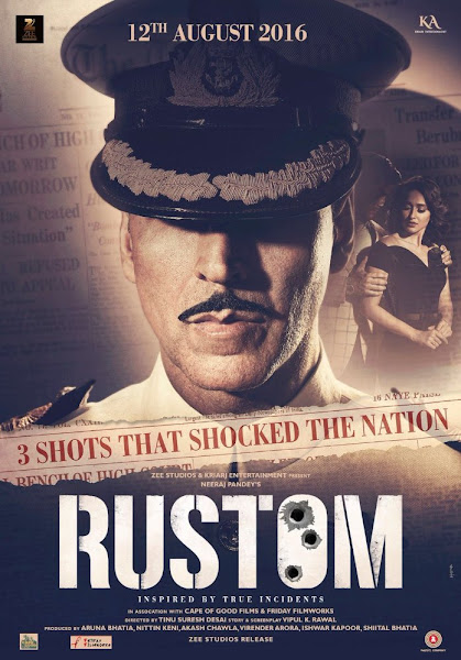 Poster Of Rustom 2016 480p Hindi DVDScr Full Movie Download