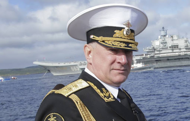 Image Attribute: The file photo of newly-appointed Commander-in-Chief of the Russian Navy Nikolai Evmenov / Source:  Anna Isakova / Press Service of the State Duma of the Russian Federation / TASS