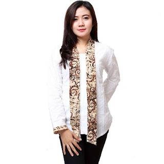 Model Baju Batik Kantor Kombinasi