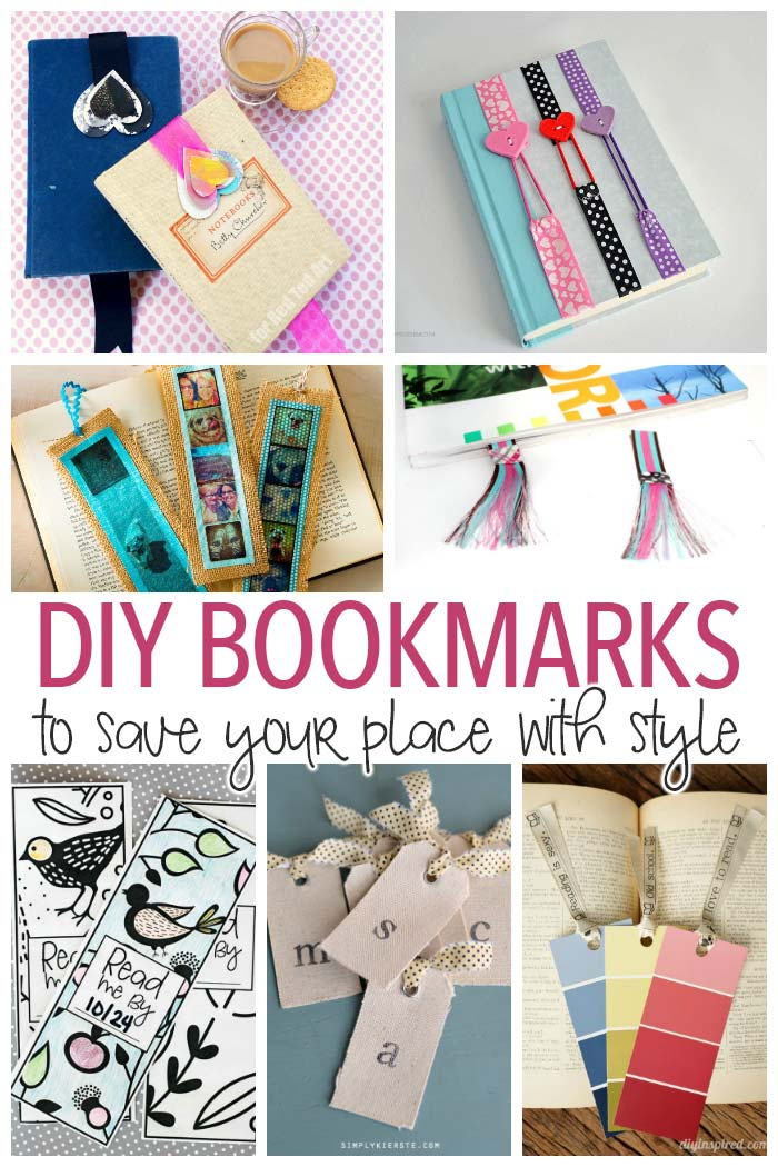Save your place with style with one of these easy DIY bookmarks! No matter your skill you can create these fun DIY bookmarks - perfect for yourself or to give as gifts!