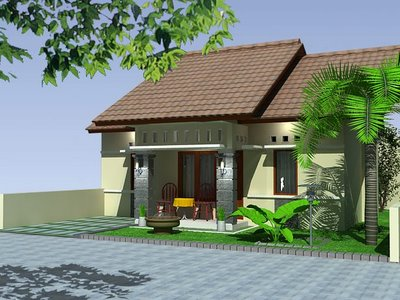 Plan of tropical house minimalist 1 floor house