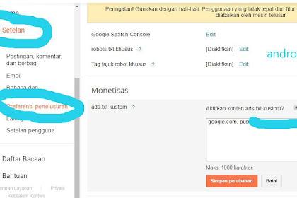 Cara mengatasi Error ADS.TXT google adsense MANJUR !!
