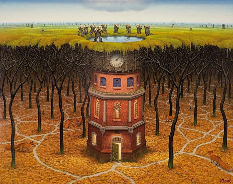 Torre da Subconsciência - Jacek Yerka e seu surrealismo fantástico ~ Polonês