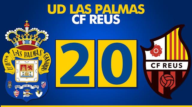 Marcador final UD Las Palmas 2-0 CF Reus