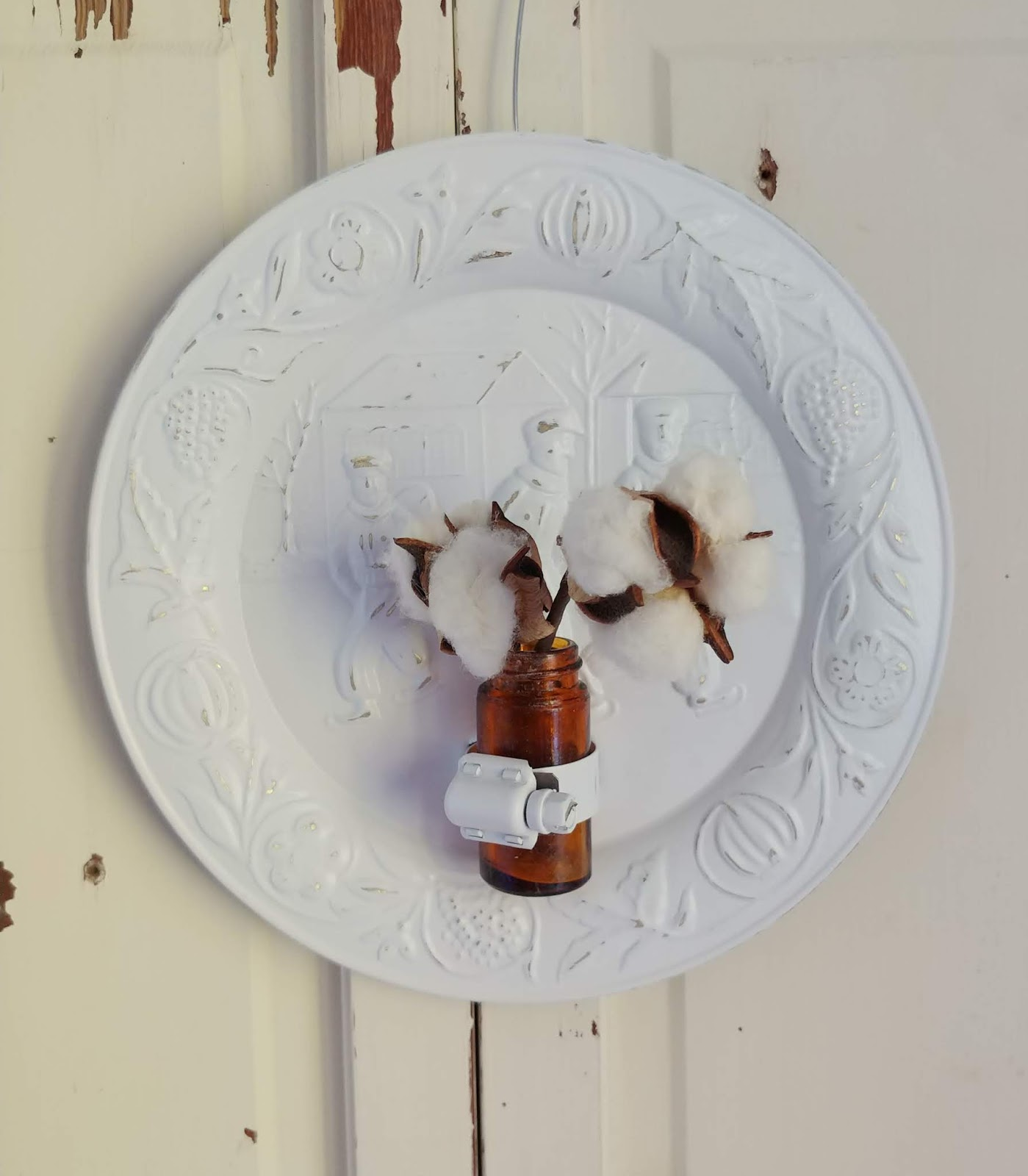 Plate wall vase
