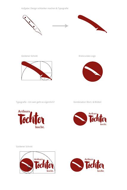 Neues Logo-Design, Entwürfe | Arthurs Tochter Kocht von Astrid Paul