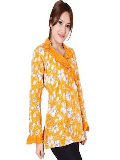gambar baju batik atasan wanita modern