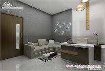 Black And White Themed Interior Design - Kerala Home