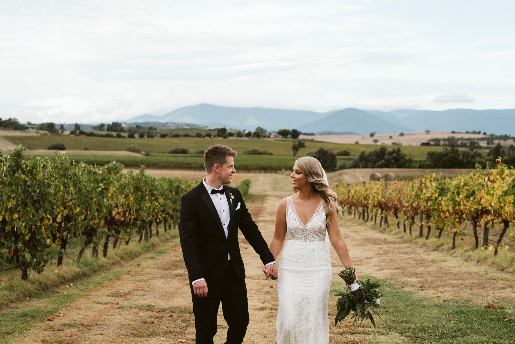 LOVE: ALYCE & DAVID   STUNNING WINERY WEDDING YARRA GLEN VIC