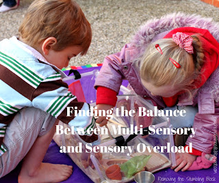 sensory play; Removing the Stumbling Block