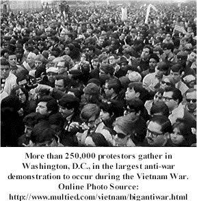 The progress of the anti vietman movement in the us