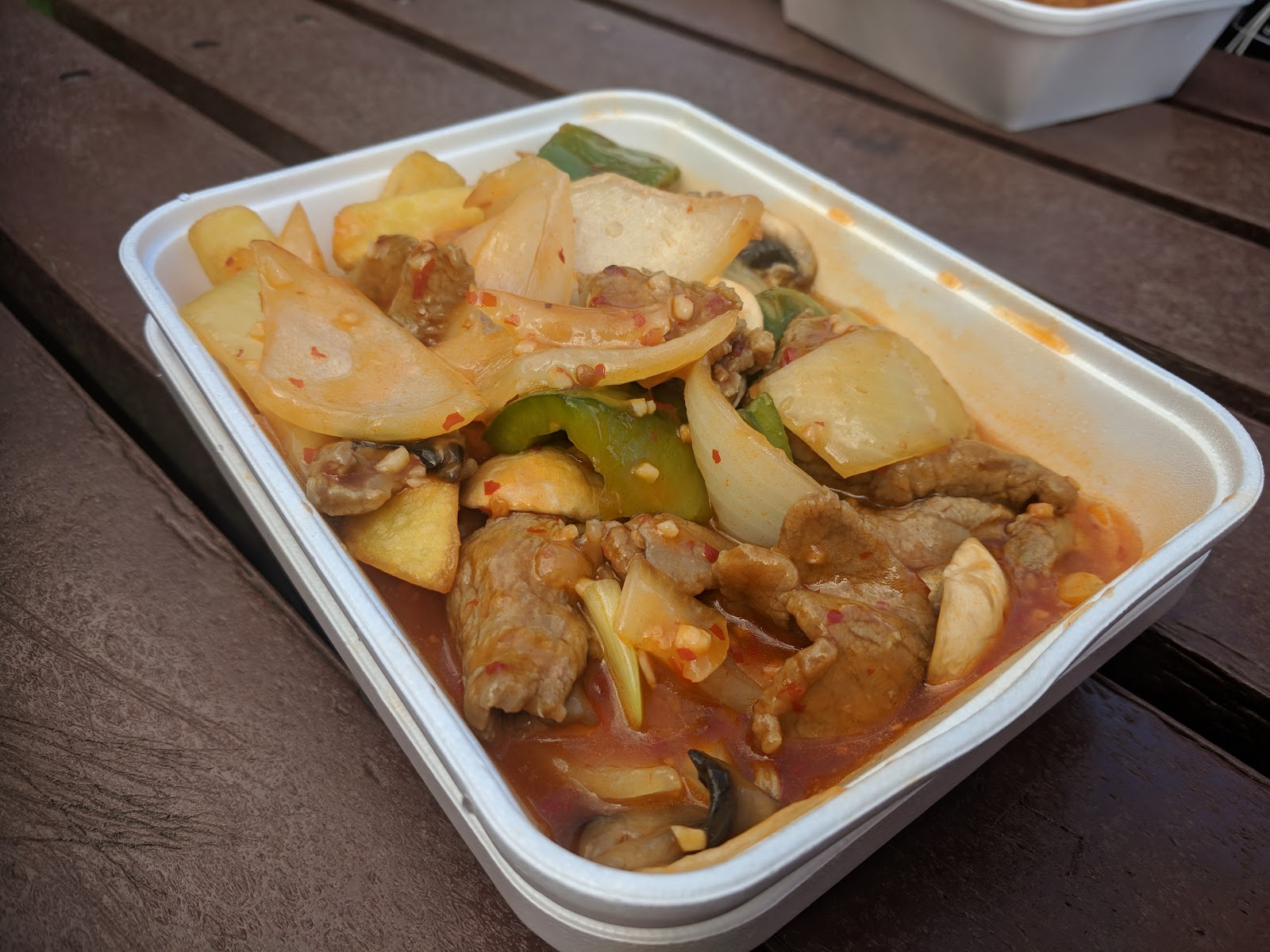 Why you must visit the Fortune Cookies Chinese Van in Morpeth - chilli and garlic beef