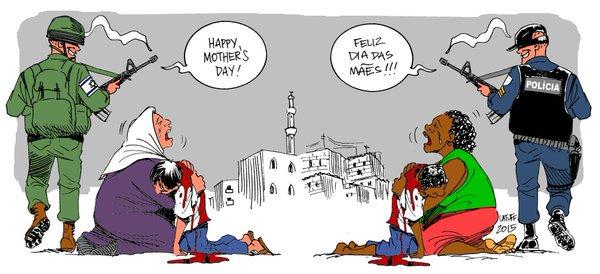 Η γιορτή της Μητέρας στην Παλαιστίνη και την Βραζιλία... (Με την πένα του Carlos Latuff)