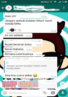 Waspada ! Pesan Tombol Bulat Hitam Berbahaya Bakal Bikin Whatsappmu Error