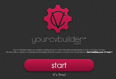 عمل السيرة الذاتية أونلاين yourcvbuilder - مدونة Blog4Prog