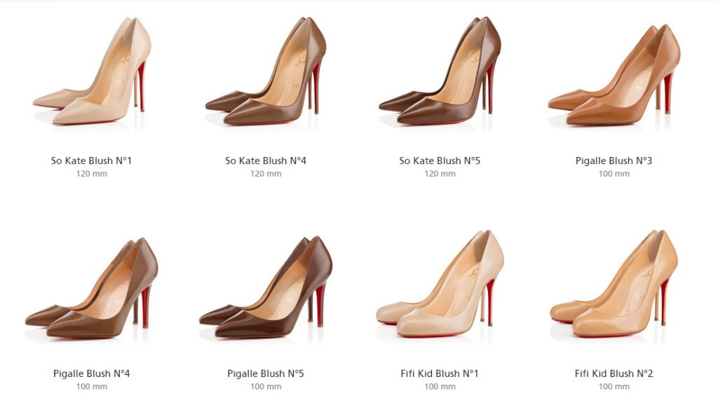 the latest 4ea64 7be18 CHRISTIAN LOUBOUTIN PIGALLE 100MM BLUSH NO.5 KID LEATHER ...