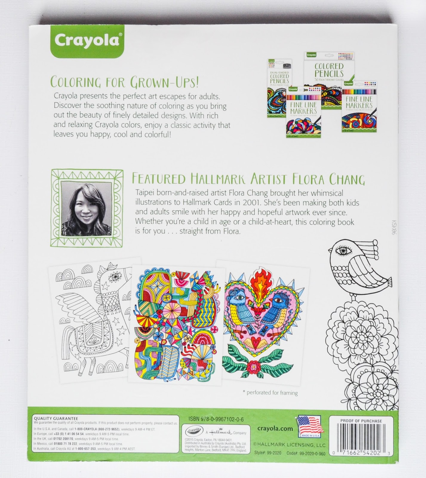 2015 Back Of The Elegant Escapes Coloring Book
