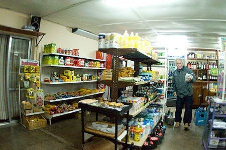 Market in Puerto Pirámides La Araña Bionica